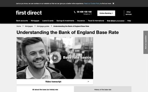 Screenshot of FAQ Page firstdirect.com - Bank of England Base Rate Changes and Their History | first direct - captured Nov. 14, 2018