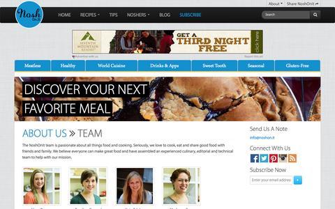 Screenshot of Team Page noshon.it - Team | NoshOn.It - captured Nov. 1, 2014