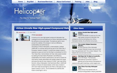 Screenshot of Press Page helicopter.com - Airbus Unveils New High-speed Compound Helo   Helicopter.com - captured Nov. 6, 2016