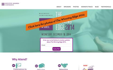 Screenshot of Home Page winningedge2014.com - The Winning Edge 2014 - captured Sept. 13, 2015