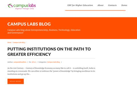 Screenshot of Blog campuslabs.in - Campus Labs Blog | Campus Labs - captured Sept. 22, 2018