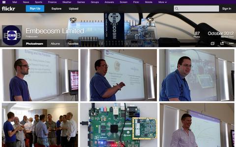 Screenshot of Flickr Page flickr.com - Flickr: Embecosm's Photostream - captured Oct. 22, 2014