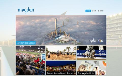 Screenshot of Home Page meydan.ae - Meydan - captured Feb. 2, 2016
