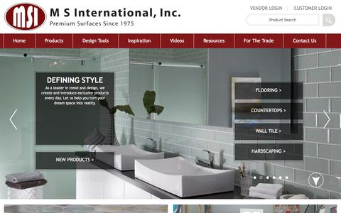Screenshot of Home Page msistone.com - Natural Stone | Natural Stone and Porcelain Distributor | MSI Stone - captured Dec. 1, 2015