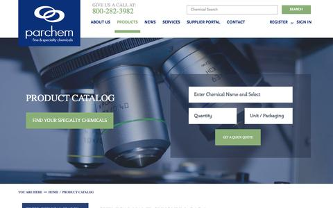 Screenshot of Products Page parchem.com - Parchem's Product Catalog and Chemical Database - captured Jan. 25, 2016