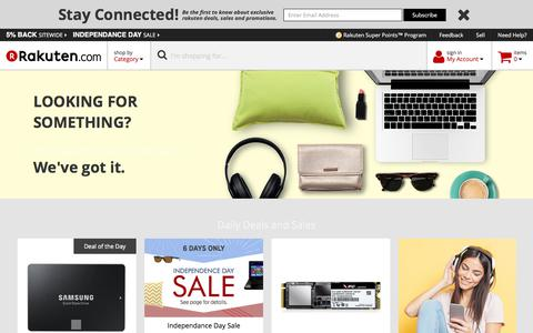 Rakuten.com - Computers, Electronics, Apparel, Home, Sporting Goods, Toys and Accessories