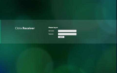 Screenshot of Login Page medas.dk - Citrix Access Gateway - captured Oct. 27, 2014