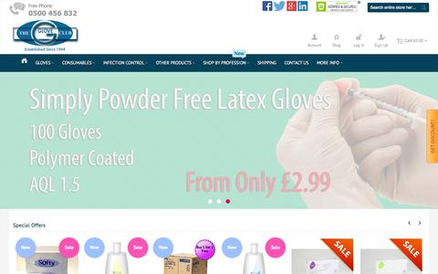 Screenshot of Home Page gloveclub.co.uk - Gloves | Online Range from The Glove Club - captured Sept. 19, 2015