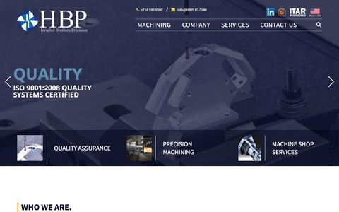 Screenshot of Home Page hbpllc.com - Precision Machining   Horschel Brothers Precision, LLC - captured Sept. 2, 2017