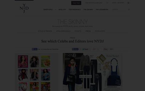 Screenshot of Press Page nydj.com - NYDJ Press - captured Oct. 26, 2014
