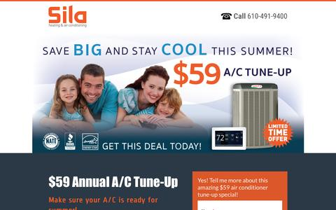 Screenshot of Landing Page sila.com - $59 Air Conditioner Tuneup - captured Oct. 19, 2016