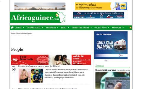 Screenshot of Team Page africaguinee.com - People | Africa Guinee | Actualité sur la Guinée et l'Afrique - captured Sept. 22, 2018