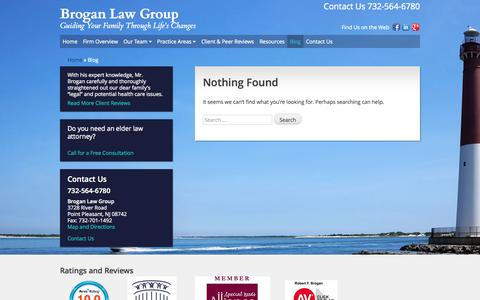 Screenshot of Blog broganelderlaw.com - Brogan Law Group - Guiding Your Family Through Life's Changes - captured Oct. 7, 2014