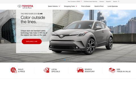 Screenshot of Home Page toyota.com - New Cars, Trucks, SUVs & Hybrids | Toyota Official Site - captured April 21, 2017