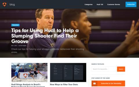 Screenshot of Blog hudl.com - Home | Hudl Blog - captured Jan. 13, 2017