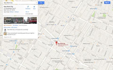 Screenshot of Maps & Directions Page google.com - Google Maps - captured Nov. 5, 2014