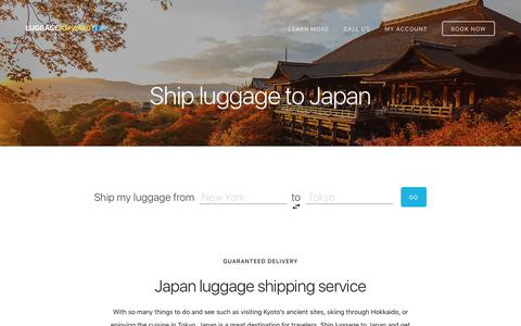 Ship Luggage to Japan - Guaranteed by Luggage Forward®