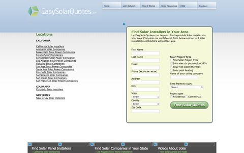 Screenshot of Locations Page easysolarquotes.com - Locations | EasySolarQuotes.com: - captured July 15, 2018