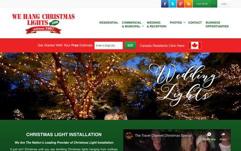 Screenshot of Login Page wehangchristmaslights.com - Christmas Light Installation   Professional Christmas Lights - captured Oct. 20, 2018