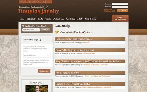 Screenshot of Team Page douglasjacoby.com - Leadership Archives - Douglas Jacoby - captured Feb. 13, 2016