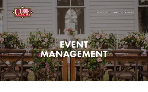 Screenshot of Team Page outdoorevents.com - Event Management — Outdoor Events - captured Nov. 16, 2018