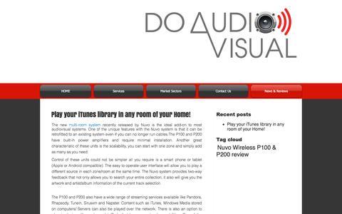 Screenshot of Press Page doav.com.au - Do Audio Visual News - captured Nov. 24, 2016