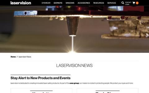 Screenshot of Press Page lasersafety.com - laservision News - laservision USA - captured Sept. 27, 2018