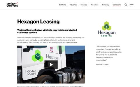 Screenshot of Case Studies Page verizonconnect.com - Hexagon Leasing - captured April 26, 2018