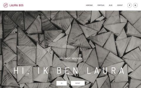 Screenshot of Home Page laurabos.nl - Portfolio – Laura Bos - captured May 15, 2017