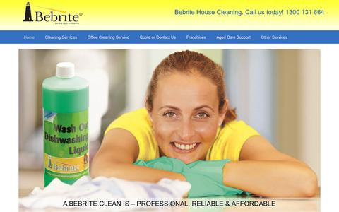 Screenshot of Home Page bebrite.com.au - Bebrite | Affordable Reliable Professional Cleaning Services - captured Oct. 5, 2018