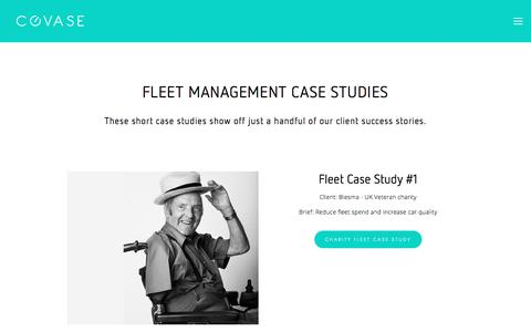 Screenshot of Case Studies Page covase.co.uk - Fleet management case studies — Covase Fleet Management | Fleet Management Outsourcing - captured Nov. 12, 2016