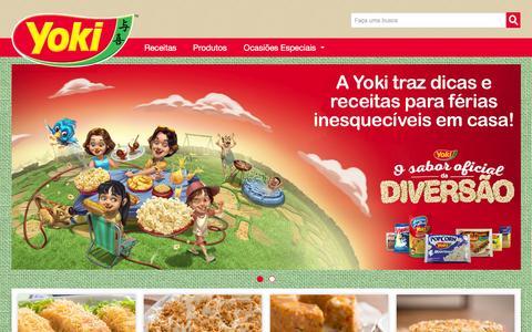 Screenshot of Home Page yoki.com.br - Yoki - - captured Jan. 20, 2016