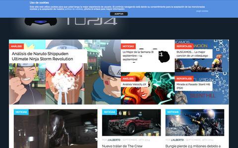 Screenshot of Home Page tups4.com - Tu PS4 – Toda la información sobre PlayStation 4 - captured Sept. 18, 2014