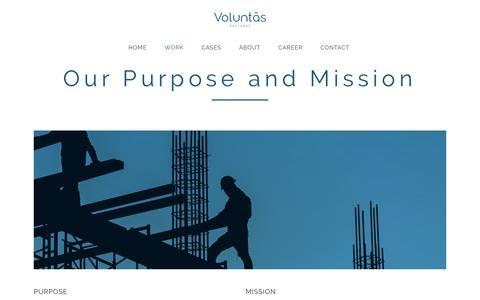 Screenshot of Products Page voluntasadvisory.com - Voluntas |   Work - captured May 27, 2017