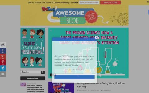 Screenshot of Blog powtoon.com - Home page - captured Nov. 17, 2015