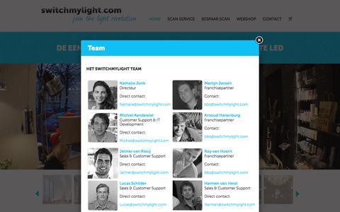 Screenshot of Team Page switchmylight.com - Switchmylight.com - De eenvoudige en betaalbare switch naar de beste LED - captured Aug. 16, 2016