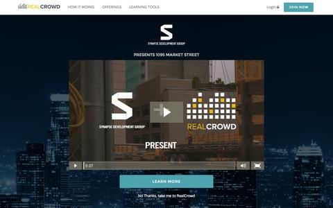 Screenshot of Home Page realcrowd.com - RealCrowd - captured Sept. 13, 2015