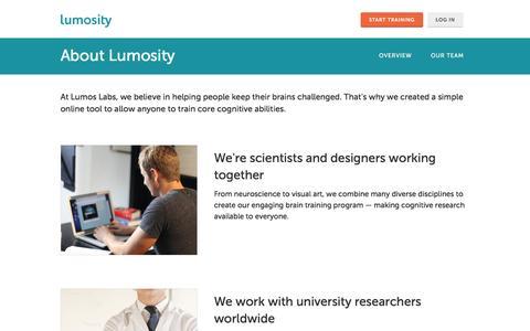 About Lumosity - a Leading Brain Training Program Designed by Neuroscientists - Lumosity
