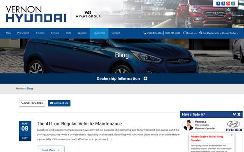 Screenshot of Blog vernonhyundai.com - Blog - Vernon Hyundai in Vernon, BC - captured Nov. 6, 2017