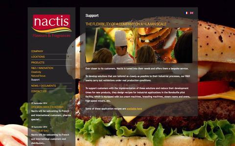 Screenshot of Support Page nactis.fr - Support | NACTIS - captured Oct. 29, 2014