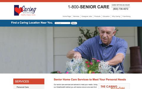 Screenshot of Services Page caringseniorservice.com - Senior Care Services Tailored For You | Caring Senior Service - captured Nov. 6, 2017