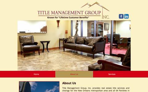 Screenshot of About Page titlemg.com - title-management | About Us - captured Dec. 3, 2016