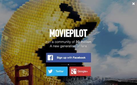Screenshot of Login Page moviepilot.com - A New Generation of Fans | moviepilot.com - captured Dec. 16, 2015