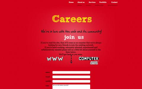 Screenshot of Jobs Page cetattii.com - Web Design | Web Development | web design and development company | - Cetattii - - captured Oct. 3, 2014