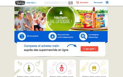 Screenshot of Home Page shoptimise.fr - Shoptimise - Comparateur de drive et supermarché en ligne - captured Sept. 4, 2015