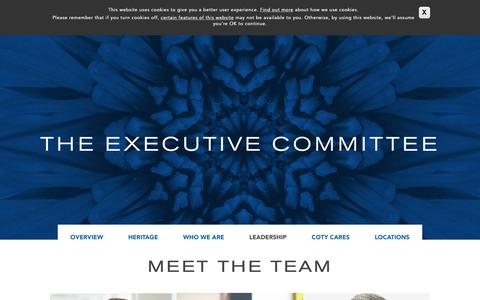 Screenshot of Team Page coty.com - Leadership | Coty - captured May 24, 2016