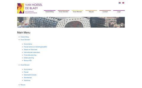 Screenshot of Site Map Page hoesel.nl - Sitemap - Van Hoesel / De Blaey - Accountants & Belastingadviseurs - captured Sept. 26, 2018