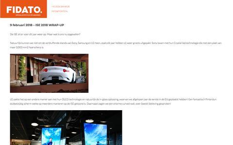 Screenshot of Blog fidato.nl - Blog - Fidato - captured Aug. 13, 2018