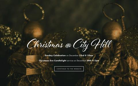 Screenshot of Home Page cityhill.org - City Hill Church - captured Dec. 14, 2018