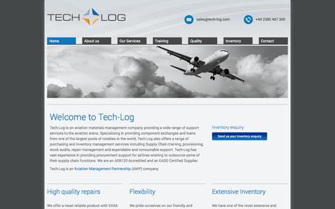 Screenshot of Home Page tech-log.com - Tech-Log - Home - captured Sept. 30, 2014